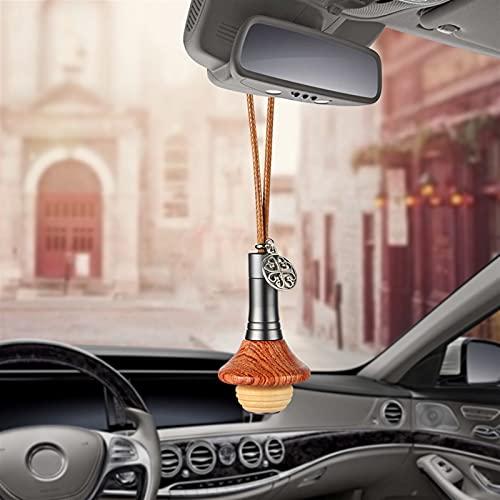BEISHI Coche Perfume Olor decoración Colgante Olor Olor Madera ovnieves de Aire Automóviles Interior retrovisor Espejo Fragancia difusor Adornos de Coches