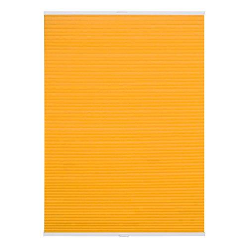 Lichtblick PTT.100.130.11 Plissee Klemmfix TOP, Thermo, ohne Bohren, verspannt Gelb, 100 cm x 130 cm (B x L)