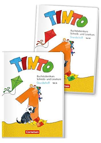 Tinto 1 - Neubearbeitung 2018: 1. Schuljahr - Buchstabenkurs mit Schreib- und Lesekurs Druckschrift: Teil 1+2 im Paket, mit Buchstabenhaus: ... - Teil A+B im Paket, mit Buchstabenhaus