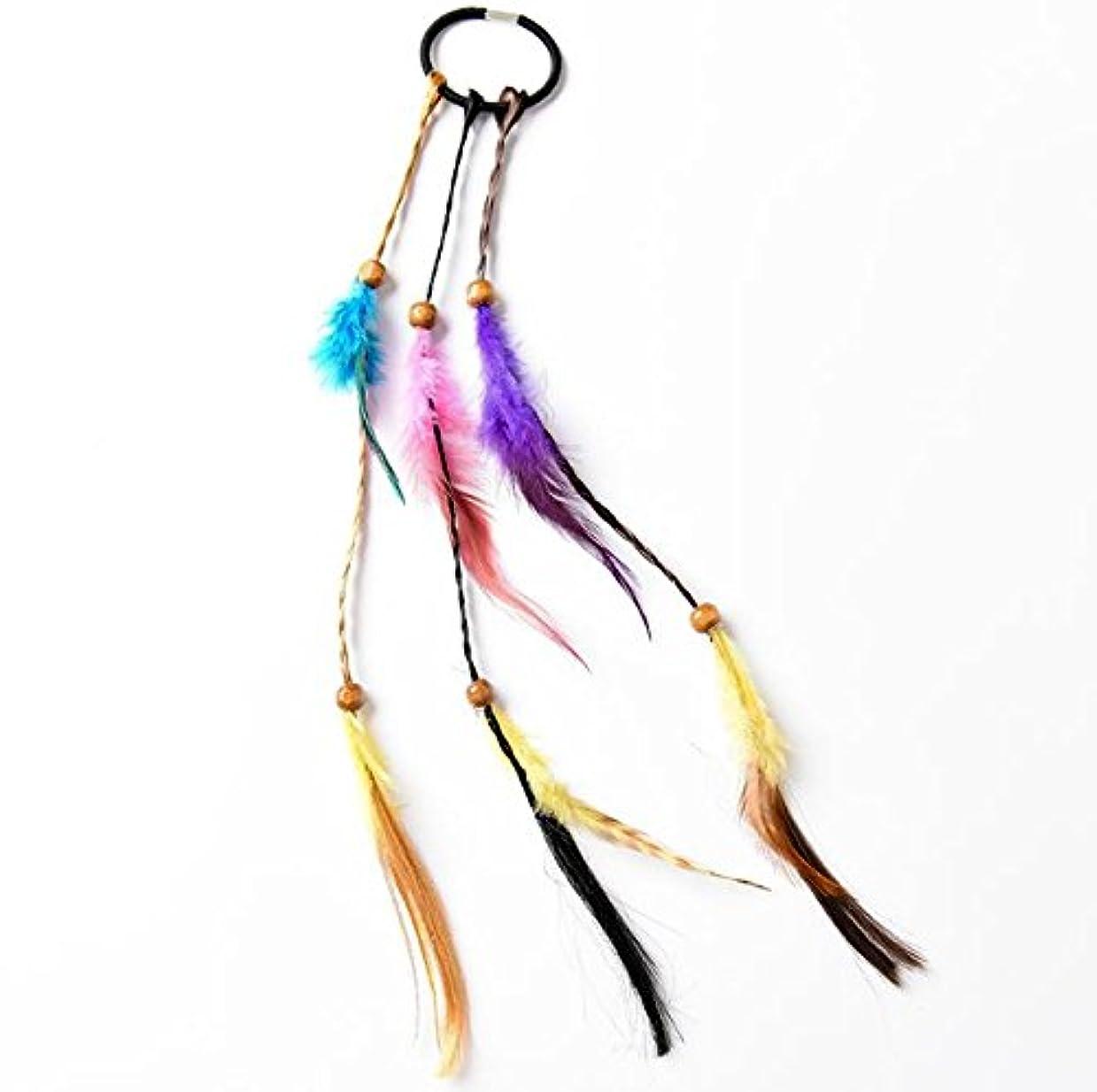 脈拍のれん争い多色ファッション女性の髪のリング