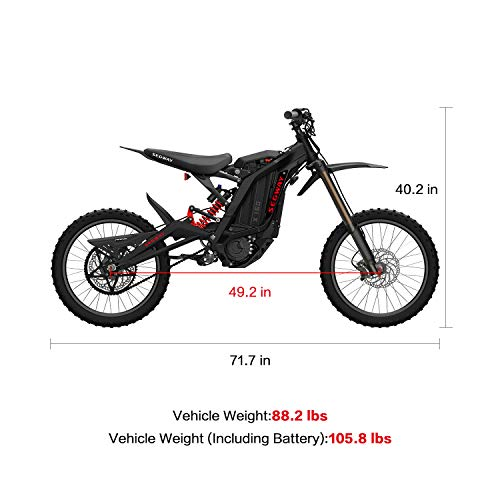 SEGWAY Ninebot Electric Dirt Bike Motocross, Dirt eBike X160, Mighty Torque and Super Lightweight, Black, Sliver, Red, Blue