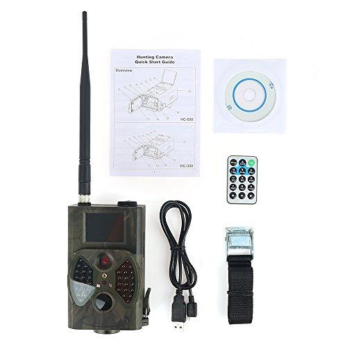 SQUAREDO Jagdkamera HC-300M 940NM Videokameras GPRS Trail Qildlife Kamera 12MP GPRS MMS EMAIL 1080P HD Trail Kamera mit großer Reichweite, stabile Signalverstärkungsantenne