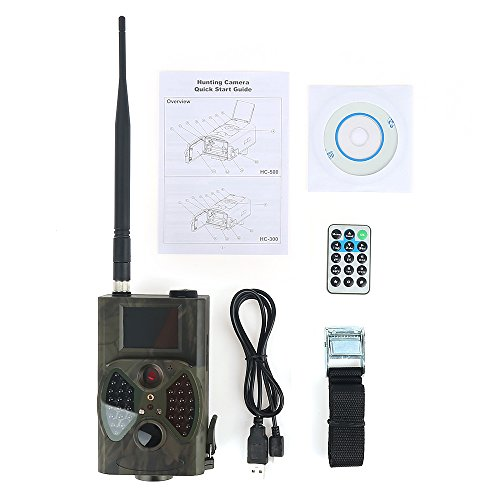 SQUAREDO Jagdwildkameras im Freien tragbar, Infrarotkamera, 12MP 1080P, 940NM IR LED (HC300M H Überwachungsjagdkamera GPRS/MMS/SMS mit Fernbedienung