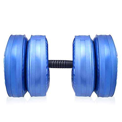 Mancuernas ajustables llenas de agua Mancuernas ecológicas anti-impacto portátiles de viaje Mancuernas de entrenamiento con pesas ajustables Muscle Fitness Mancuernas (juego de 2 (mancuernas))