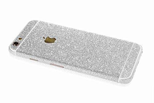 MrStraps iPhone 6 / 6s Premium Glitzerfolie Glitter Skin (Silber)