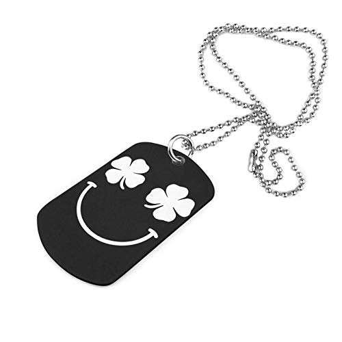 Clover Face Theme Military Necklace Keychain Neck Pendant Clothes Accessories Pet Tag
