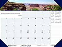 House of Doolittle 2021 マンスリーデスクパッドカレンダー 地景 山 22 x 17インチ 1月 - 12月 (HOD176-21)