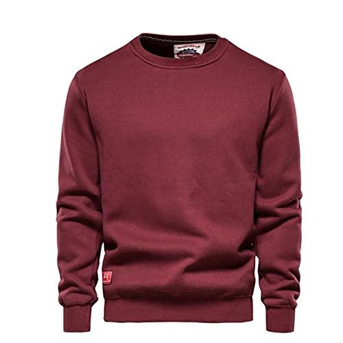 SSBZYES Suéter De Punto para Hombre Suéter Sudadera con Cuello Redondo Suéter con Cuello Redondo Grueso De Color Sólido Suéter Camiseta De Manga Larga Camisa Básica