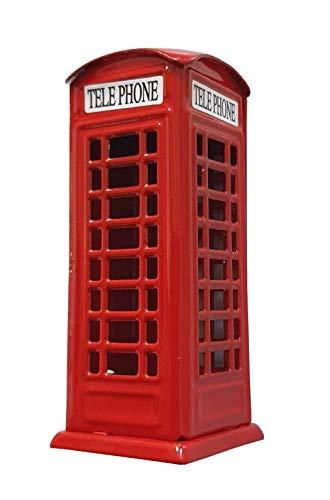 Sacapuntas de caja de teléfono de Londres – metal fundido a presión, cabina de teléfono roja/recuerdo británico de Inglaterra Reino Unido/útil en la escuela oficina o casa