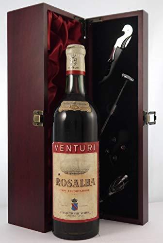 Rosalba Tipo Esportazione 1956 Venturi en una caja de regalo forrada de seda con cuatro accesorios de vino, 1 x 750ml