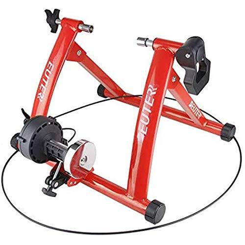 SUUUK Entraîneur De Vélo d'exercice, Support De Vélo Stationnaire À Réduction De Bruit Silencieux, Entraîneur De Vélo À Résistances Magnétiques À 6 Vitesses pour Roues De 26-28\