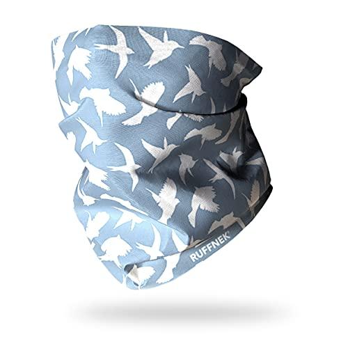 Ruffnek Cache-cou multifonction Oiseaux Bleu ciel/gris Pour homme, femme et enfant