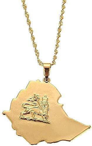 FACAIBA Necklace Ethiopian Necklace Gold Color Lion Pendant Necklace for Women Lion of Judah Jewelry