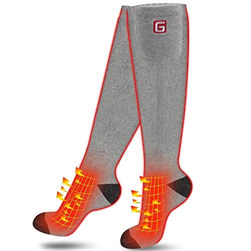Beheizte Socken Elektrische Socken für Männer Frauen Wiederaufladbare Batterien Socken für chronisch kalte Füße, Fußwärmer Warme Socken Ideal...