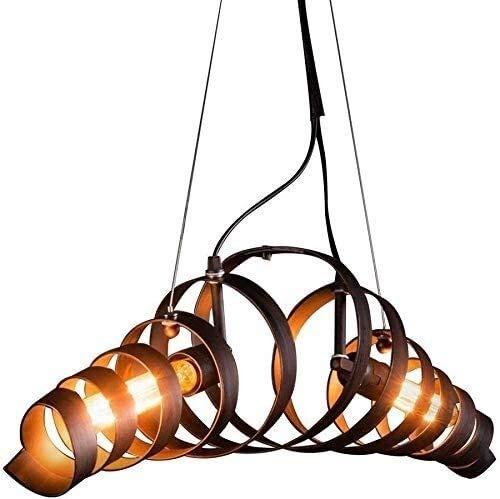 FANPING Araña de Año industrial, las lámparas del metal E27 2 llama de la lámpara Lámpara antigua, techo decorativo de luz for café de la barra del restaurante