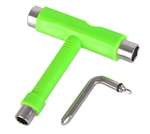 COCOMIA All in One Skate Tool Skateboard Tool,Multi-Function and Portable Skate Tool for Peny Board and Longboard Screwdriver