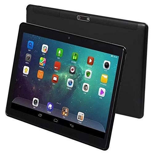 QiKun-Home Tableta Global Android 7.0 OS Tableta de 10 Pulgadas 4G FDD LTE Octa Core 2GB + 32GB 1280 * 800 IPS 2.5D Glass Tabletas para niños 10 10.1 Black EU Socket