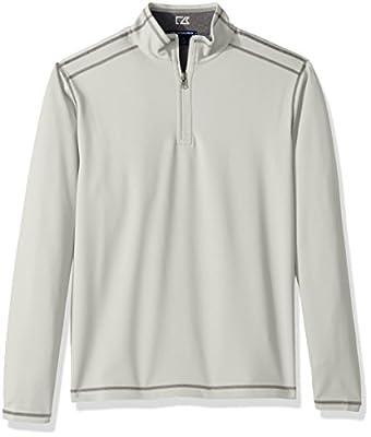 Cutter & Buck Men's 50+ UPF Stretch Evergreen Reversible Snap Placket Pullover, Reflect b, X-Large from Cutter & Buck