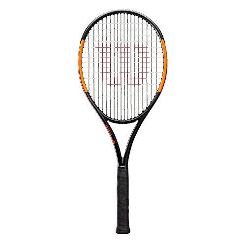 Wilson Tennisschläger, Burn 100ULS, Unisex, Ambitionierte Freizeitspieler, Griffstärke L2, Grau/Orange, WR000310U2