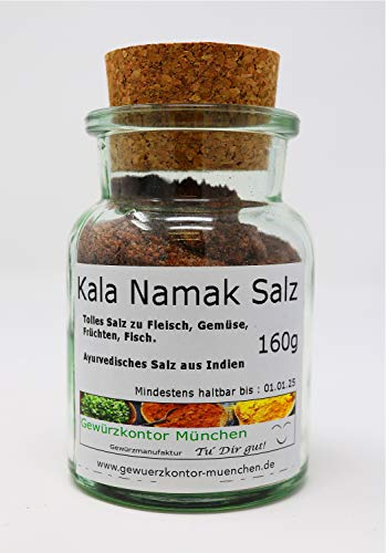 Kala Namak Salz fein 160g im Glas Gewürzkontor München