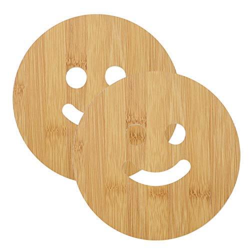 Presenta Sataanreaper Ecológico Bambú Montañas Rusas De Madera para El Hogar Pan Pot Holder para Mesa De Comedor Cojín De Calor para La Cocina Pack De 2# Sr-074