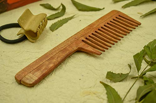 SVATV Handcrafted Neem Comb con mango N- 81 (7