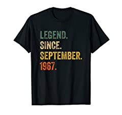 Perfect 53rd birthday gift ideas for Men/Women. Father's day gift for dad, father, mom, mother, little girl, friend, family. This shirt is great gift for 53 years birthday, retro vintage awesome since September 1967. This funny Graphic Tee is great p...