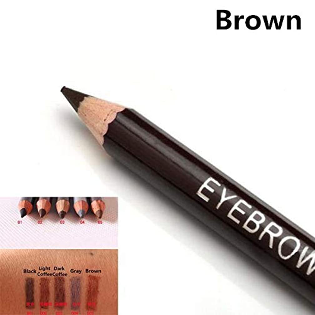 Leopard Women Eyebrow Pencil Waterproof Black Eye Brown Coffee Pencil With Brush Make Up Eyeliner Eye Liner Makeup Tools 8010 A5