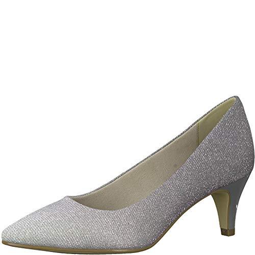 Tamaris Damen Pumps 22415-24, Frauen KlassischePumps, Woman Abend Feier Court-Shoes Absatzschuhe Abendschuhe,SLV Glam Comb,39 EU / 5.5 UK