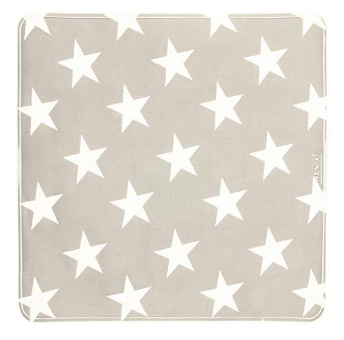 WENKO Tapis de douche Stella taupe - Tapis de douche antidérapant avec ventouses, Plastique (TPR), 54 x 54 cm, Taupe