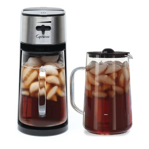 Capresso Stainless Steel Iced Tea Maker with Extra Tea Pitcher