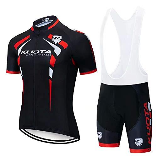 Abbigliamento Ciclismo Uomo, Completo Maglia Ciclismo con Pantaloni Corti da Ciclismo Asciugatura Asciugatura Rapida per MTB Ciclista