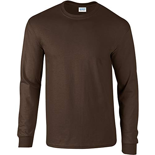 Gildan - Camiseta básica de manga larga para hombre- 22 colores diferentes