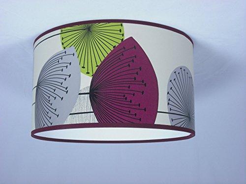 Handgemachte Lampenschirm 36cm - Sanderson Dandelion Tapete Clocks Blackcurrent