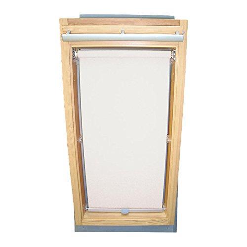 Easy-Shadow Dachfenster Sichtschutzrollo Basis Rollo für Typ Roto WDF Designo R6 / R8 / R84 / R85 / R86 / R88 / R89 / R6_K/H R8_K/H R8_K/H SR Größe 7/9 - in der Farbe weiß