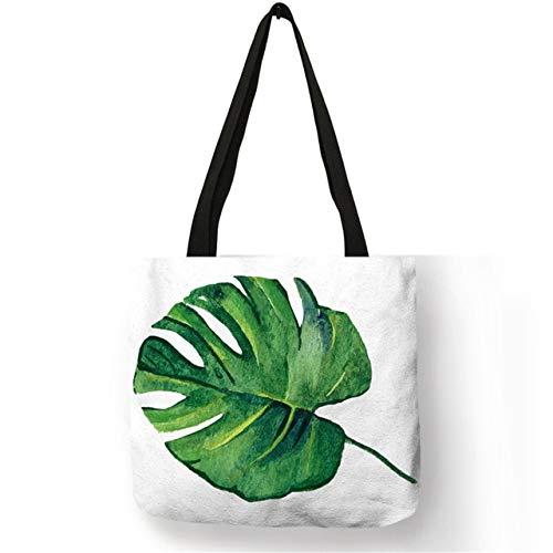 LINADEBAO Pretty Design Tas Vrouwelijke Sterke Vitaliteit Plant Linnen Milieuvriendelijke Handtassen