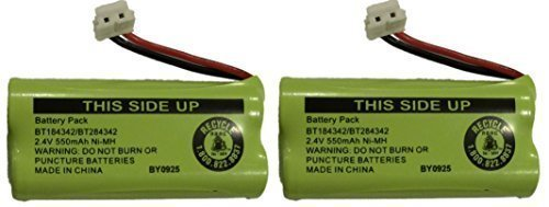 Replacement Battery BT184342 / BT284342 for Vtech CS6209 CS6219 CS6229 DS6121 DS6221 and More Cordless Telephones(2-Pack)