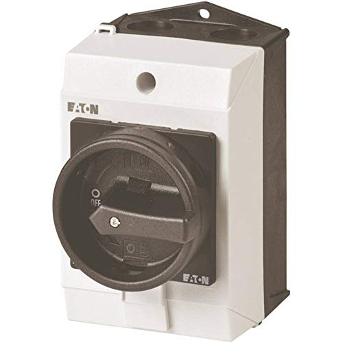 Eaton 207150 Hauptschalter, 3-polig + 1 Schließer, 20 A, Halt-Funktion, 90 Grad, abschließbar in 0-Stellung, Aufbau