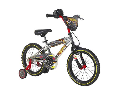 """16"""" Hot Wheels Bike with Training Wheels and Rev' Grip"""