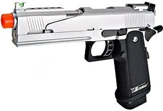 we hi-capa 5.1 dragon type a silver metal pistol - 0.240 caliber(Airsoft Gun)