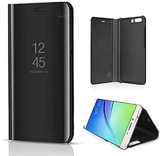 غطاء خلفي قابل للطي لهاتف Huawei P10 Plus بخاصية الرؤية الشفافة من البولي يوريثان المطلي بالكهرباء، غطاء هاتف مقاوم للصدما...