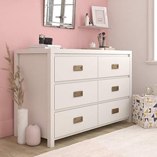 Little Seeds Monarch Hill Haven 6 Drawer White Kids Dresser,