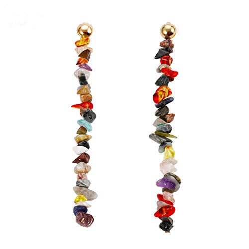 Colorful Stone Drop Earrings Shell Pearl Beaded Earrings For Women Gold Color Metal Statement Jewelry Wholesale Gift,14