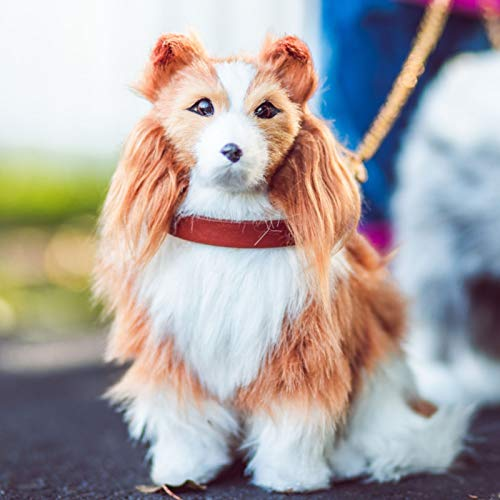 The Queen's Treasures 18 Inch Doll Pet Collie Puppy Dog with Collar & Leash Accessory Compatible with 18 Inch American Girl Dolls