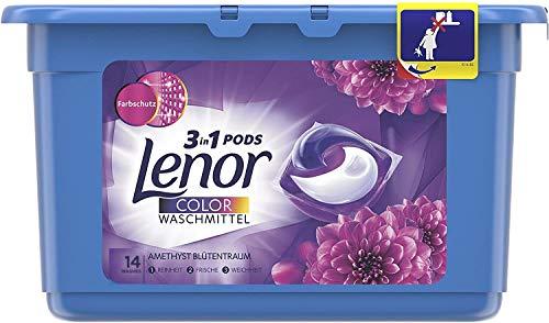 Lenor - Detergente All-in-1 PODS - Amatista & Flower Bouquet - 14 lavados