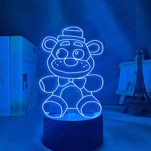 FNAF 3D-Illusions-Tischlampe, 7 Farben, Illusions-Nachtlicht, allmächtige Anime-Figur, Tischlampe,...