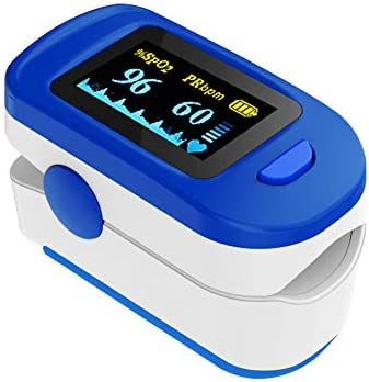 Wellue Fingertip Blood Oxygen Saturation Monitor With Batteries & Lanyard
