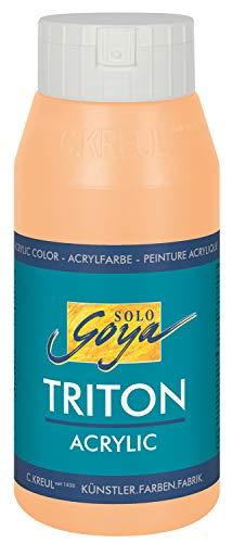 Kreul 17039 - Solo Goya Triton Acrylfarbe terracotta, 750 ml Flasche, schnell und matt trocknend, Farbe auf Wasserbasis, in Studioqualität, vielseitig einsetzbar, gut deckend und ergiebig