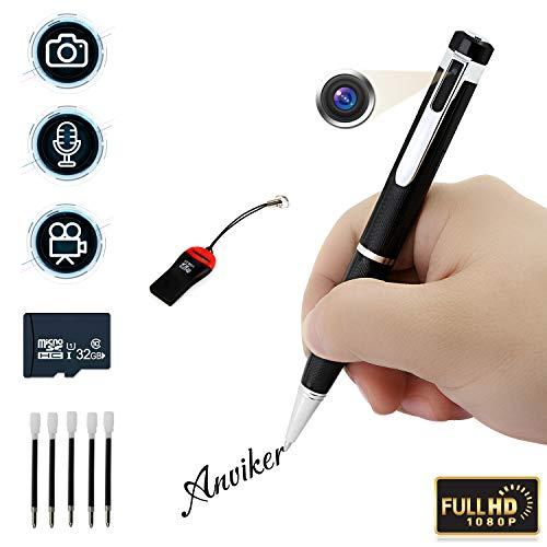 1080p Stift Mini-Kameras, Bewegungserkennung kostenlose 32 GB Micro SD eingebaute und 5 Tinten, Stimme und Bild Executive Multifunktions-Überwachungskameras