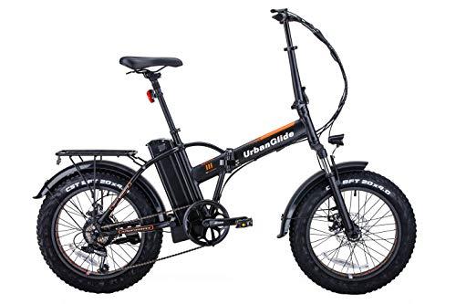 UrbanGlide C7 Bicicleta eléctrica para Adulto, Unisex, Negro y Naranja, XL